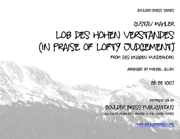 In Praise of Lofty Judgement