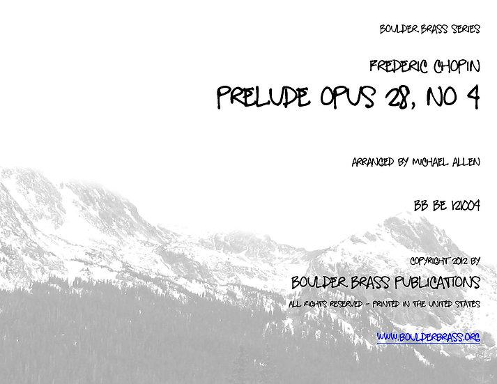Prelude No 4, Opus 28