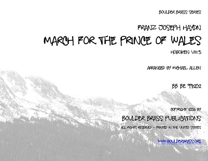 March for the Prince of Wales