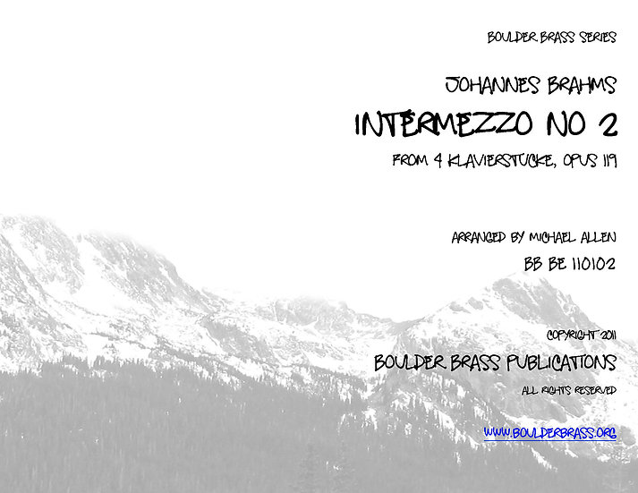 Intermezzo Opus 119, No 2