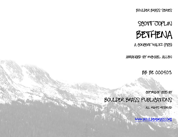 Bethena, a Concert Waltz