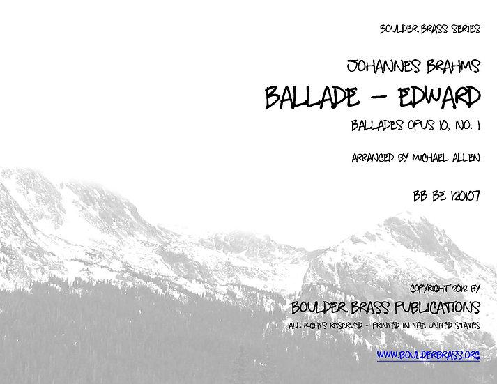 Ballade (Edward) Opus 10, No 1