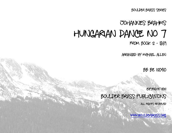 Hungarian Dance No 7