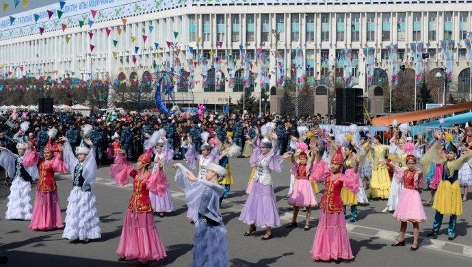 Square of Republic during Nauryz