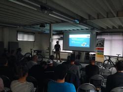 Presentaties over training.