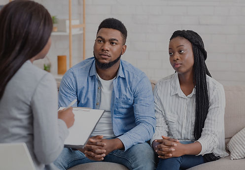 Black couple getting financial counseling