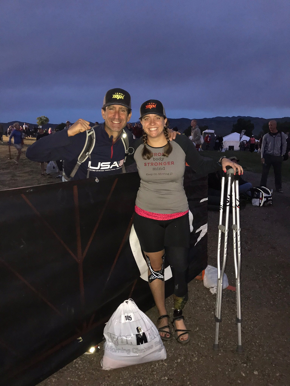 Mark Sortino and Emily Harvey morning of IM Boulder