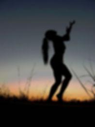 Shakti dancing in the moonlight.