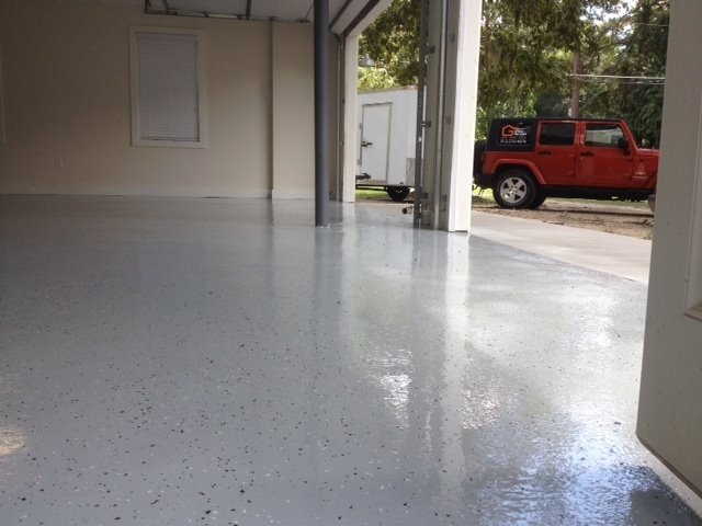 Commercial grade epoxy floor