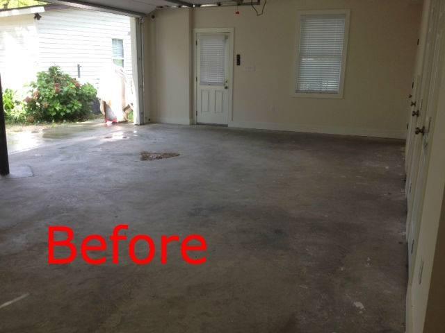 Before - Bare Concrete