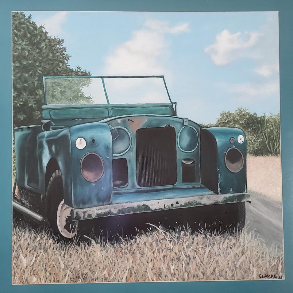 Landrover - acrylic on canvas