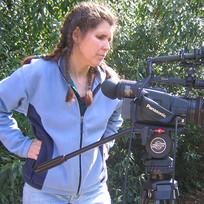Michelle Checks the Camera Shot