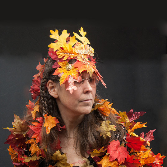 Dressed as Autumn at Halloween