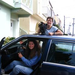 Michelle and Camera Crew