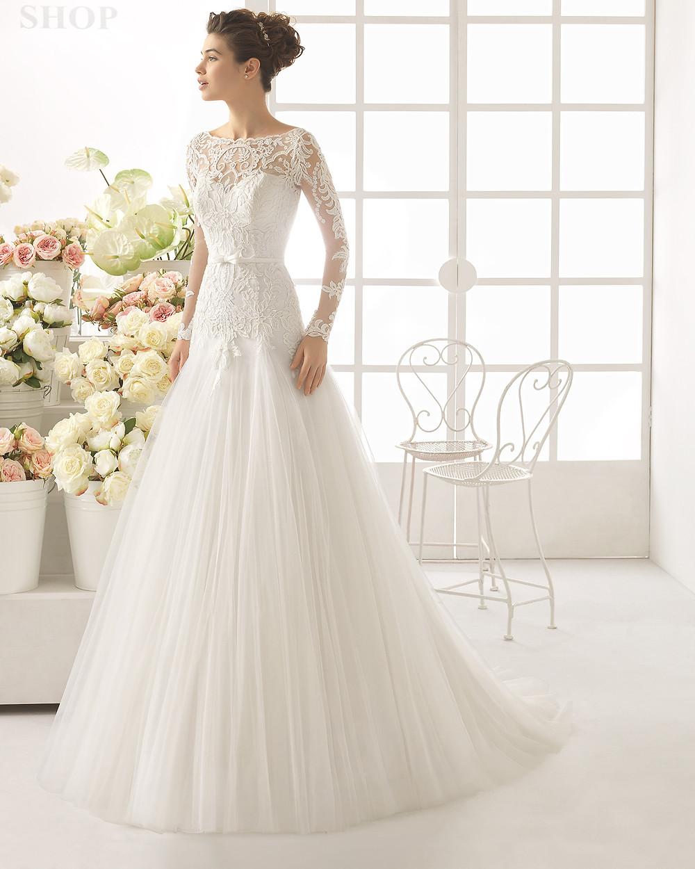 vestido-de-noiva-princesa-com-manga