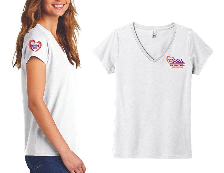 Next Level V-Neck T-Shirt - White