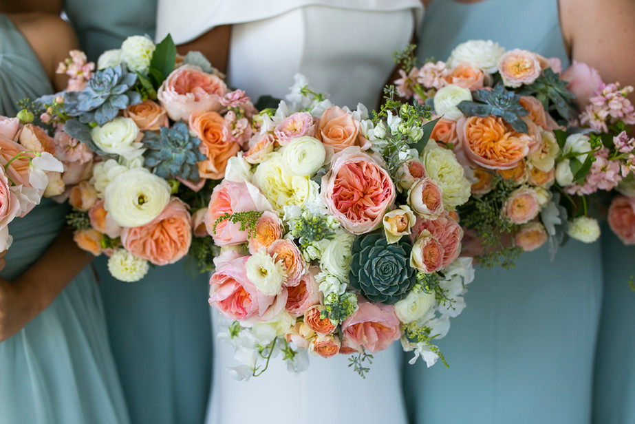 F as in Flowers | Succulent Floral Bouquet | Outdoor New England Wedding Venue