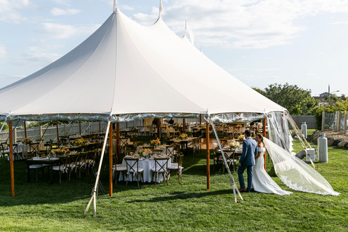 Southern Maine Tented Wedding Reception