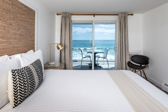 York Beach Hotel Room with Ocean View | Main Building at Stones Throw