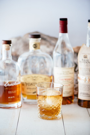 Bourbon and Whiskey Collection at Stones Throw in York, Main at Long Sands Beach