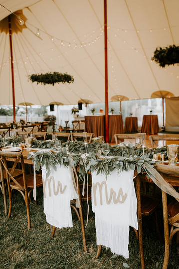 Wedding Decor Ideas for Tented Wedding | New England Outdoor Wedding Venue