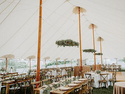 Coastal Maine Outdoor Wedding Ceremony and Reception