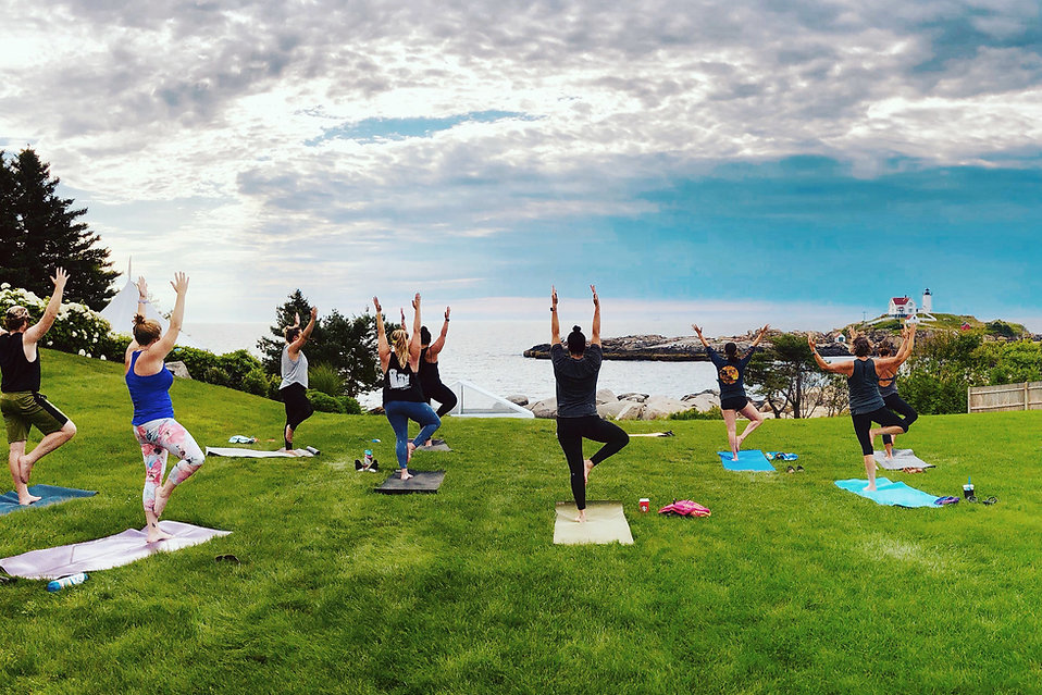 Yoga on the Nubble with KOAN Wellness at Scenic Hotel in York, Maine with Ocean Views