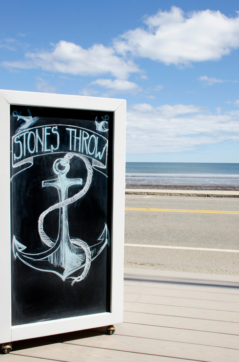 Stones Throw is open seasonally and located on Long Sands Beach York, Maine