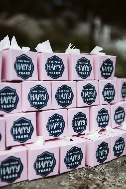 Wedding Favor Ideas | For Your Happy Tears