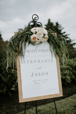 Welcome Sign Florals by Minka Flowers at The ViewPoint Hotel