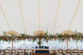 Stunning Wedding Reception Floral Garland at The ViewPoint Hotel