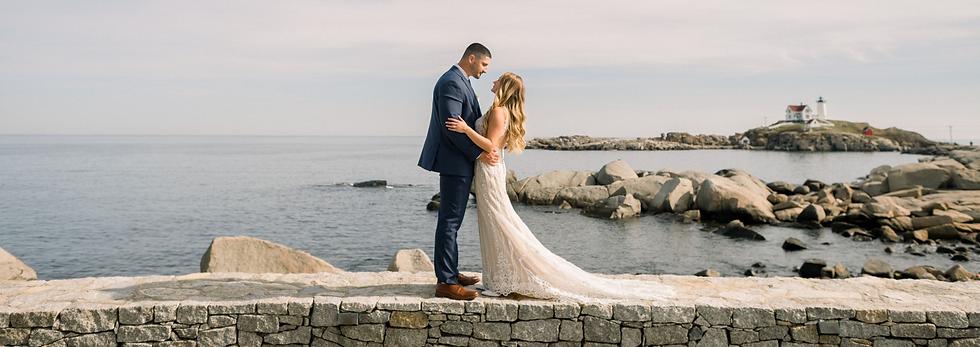Oceanfront Wedding Venue in York Beach, Maine. Nubble Lighthouse Wedding, Outdoor Tented Wedding Reception