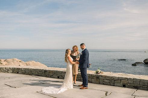 Coastal, Seacoast New England Maine Elopement | Oceanfront Outdoor Elopement