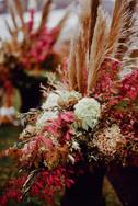 York Flower Shop Pampas Grass Wedding Floral Arrangements   York, Maine Outdoor Wedding Venue