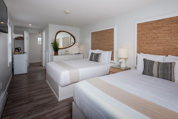 Hotel Room overlooking Long Sands Beach in York, Maine