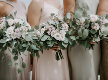 Eucalyptus Leaves Wedding Bouquet   Minka Flowers, Oceanview Wedding Venue Maine