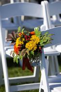 Fall Wedding Floral Decor   York, Maine Outdoor Wedding Ceremony