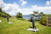 Wedding Lawn Games at Outdoor Wedding Venue with Ocean Views in Maine