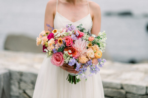 F as in Flowers | Summer Pink Wedding Bouquet | The ViewPoint Hotel