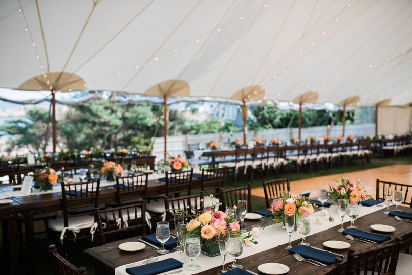 Tented Wedding Reception at The ViewPoint Hotel | New England's top outdoor wedding venue