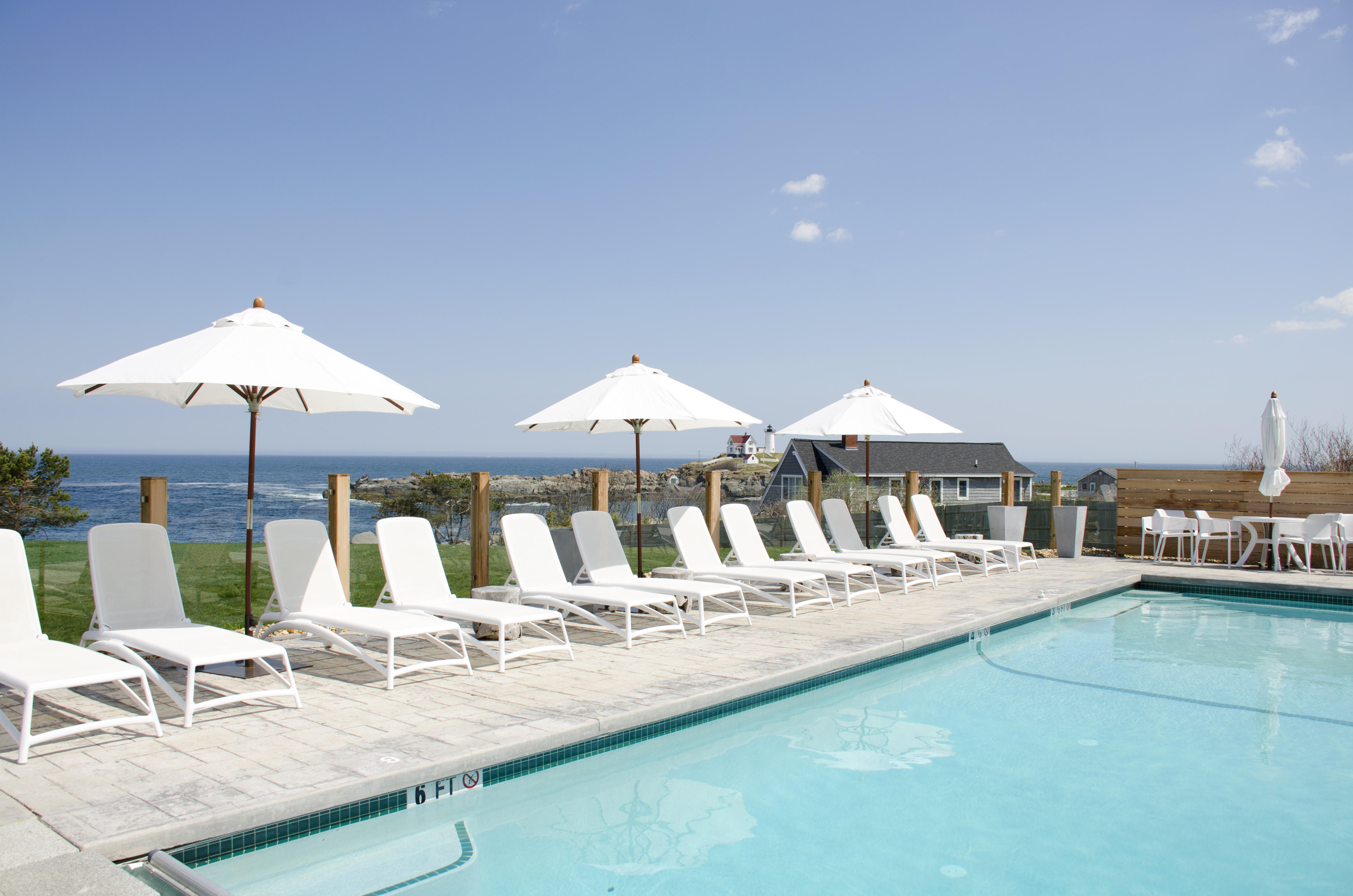 Outdoor, Heated Pool with a View at The ViewPoint Hotel in York, Maine