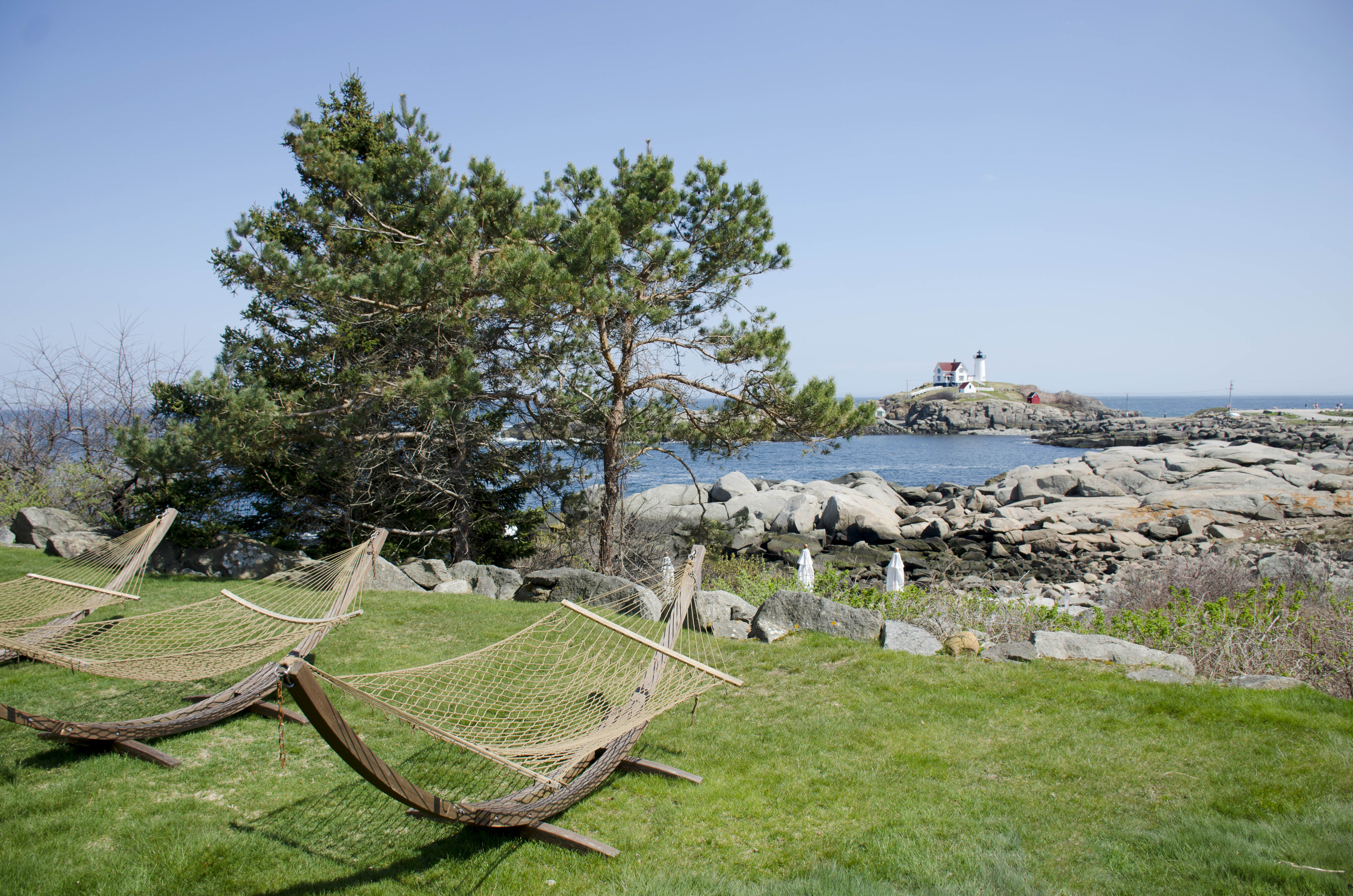 Hammocks Overlooking Nubble Lighthouse at The ViewPoint Hotel