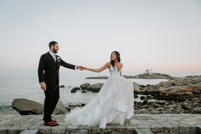 Sunset Wedding Ceremony and Reception in Maine | Scenice Oceanfront Wedding
