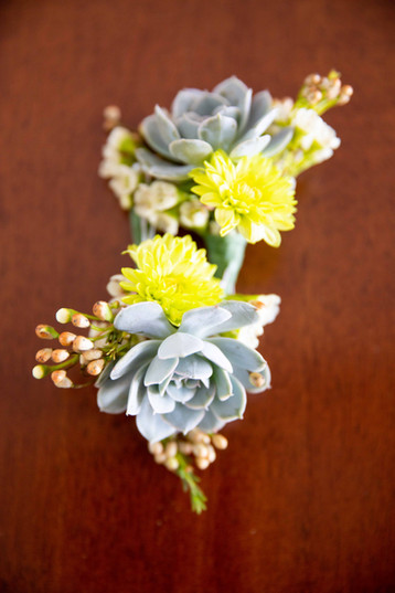 Succulent Wedding Boutonniere | Outdoor Wedding Ceremony and Reception