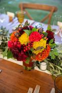 Fall Wedding Flower Centerpiece