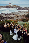 Exchange your wedding vows with the iconic Nubble Lighthouse as your backdrop in York Beach, Maine in New England
