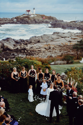 Exchange your vows with the iconic Nubble Lighthouse as your backdrop  Photo By: Tamiz Photography