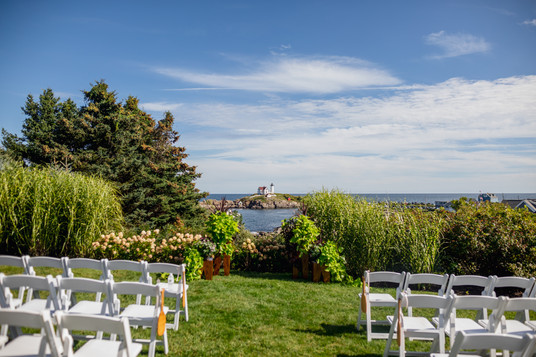 Outdoor wedding altar ideas in York, Maine