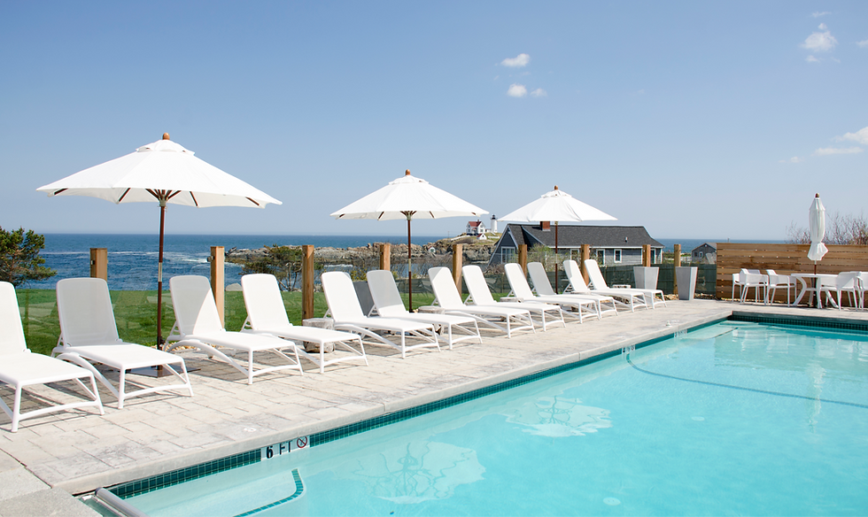 Take a Dip in our Outdoor, Heated, Saltwater Pool in York Beach, Maine