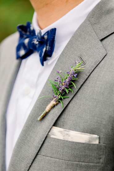 Simple Wedding Boutonniere | F as in Flowers, Southern Maine Outdoor Wedding Venue with a View